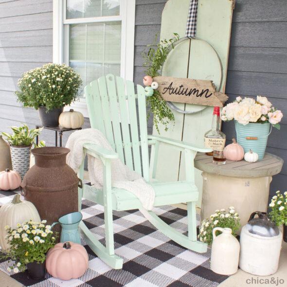 Rustic fall porch decor ideas