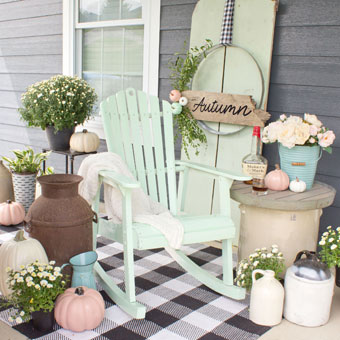 DIY Southern front porch renovation with curb appeal
