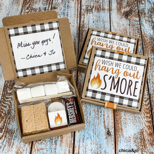 Mini s mores kit gift box