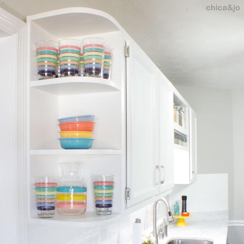 White And Blue Modern Kitchen Makeover